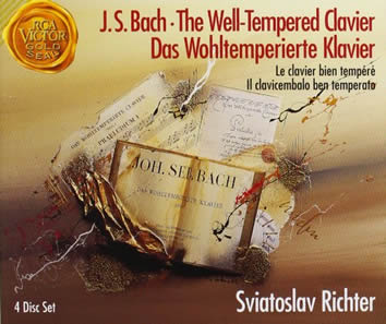"Front cover artwork for J.S. Bach' ""The Well-Tempered Clavier'."