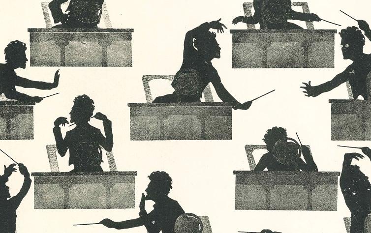 Gustav Mahler Silhouettes by Dr. Otto Böhler, c. 1900.