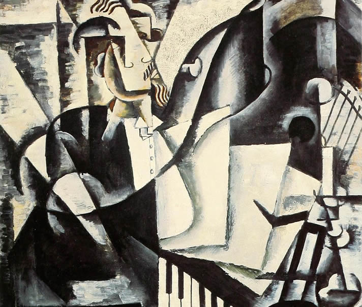 Painting by Lyubov Popova in 1914.