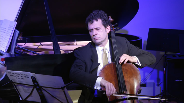Brinton Averil Smith performs on the cello with Flamenco Poets Society Performance at HPC Grand Recital Hall.
