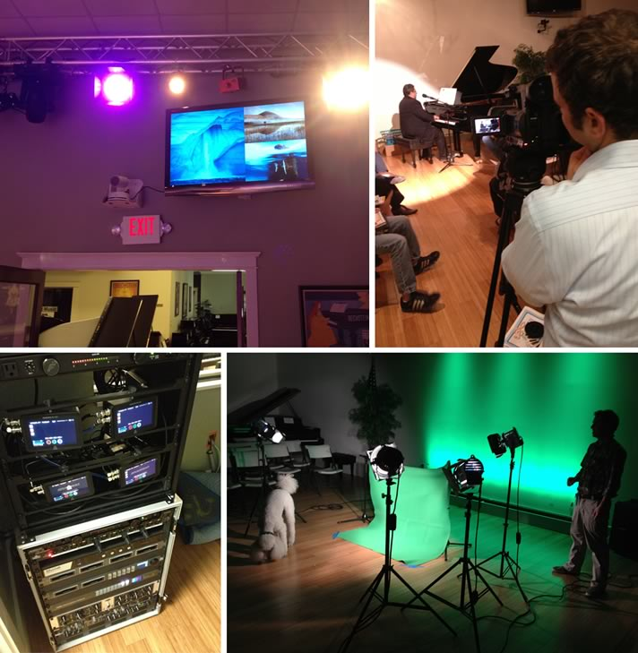 Montage of the equipment and backstage crew for HPC Grand Recital Hall.