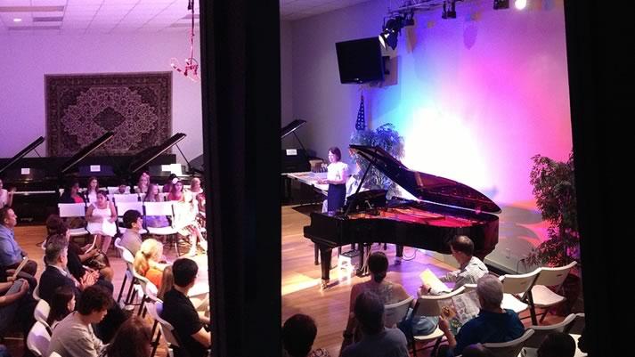Teacher presents her students for their piano recitals at HPC Grand Recital Hall.