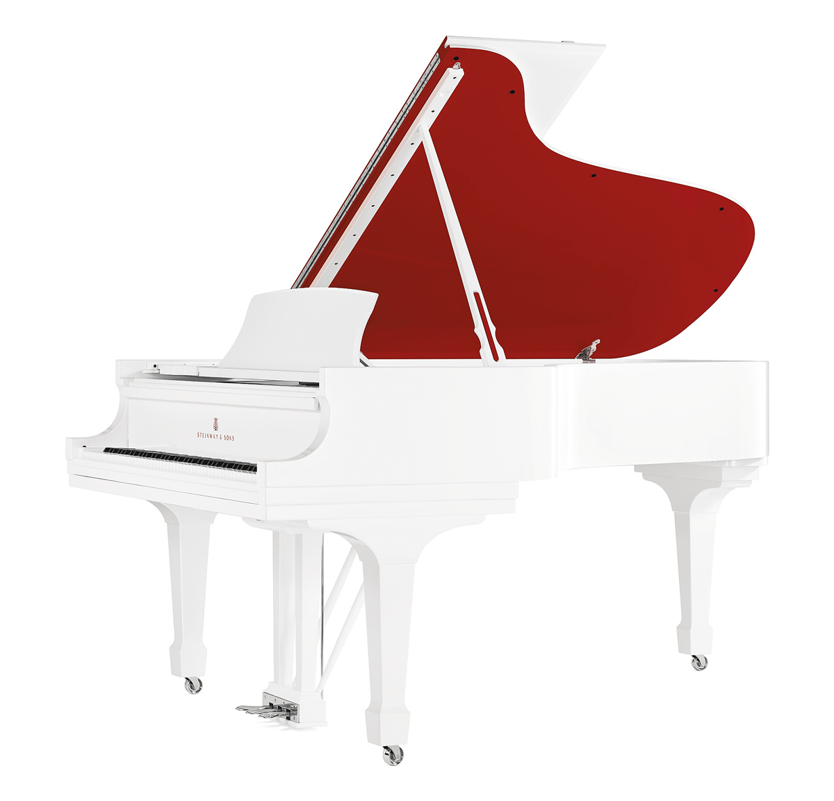Parlor Grand Model A Steinway Piano incorporating design components hand-selected by Jony Ive and Marc Newson.