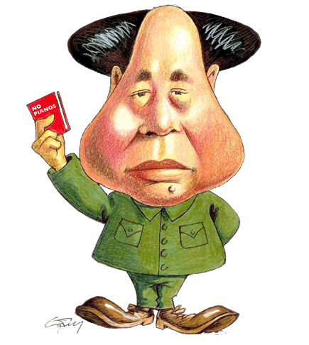 Satirical cartoon of Mao Tse-Tung.
