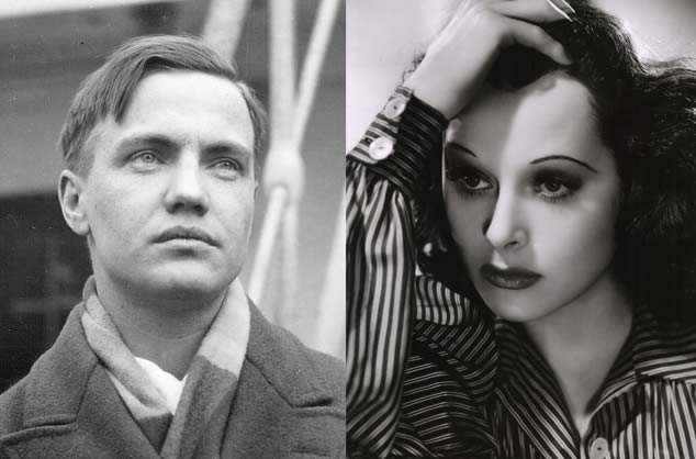 Diptych of composer George Antheil and actress Hedy Lamarr.