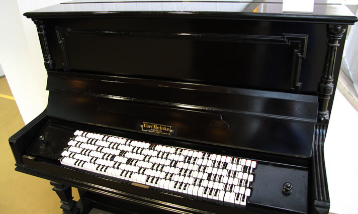 Piano with Jankó keyboard, in the Musical Instrument Museum, Berlin.