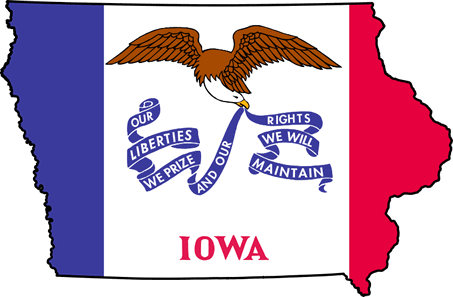 Illustration of the Iowa state flag.