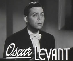 Oscar Levant from the trailer 'Rhapsody in Blue' from 1945.