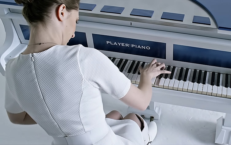 Sonya Belousova performs a <i>Star wars</i> medley on a piano.
