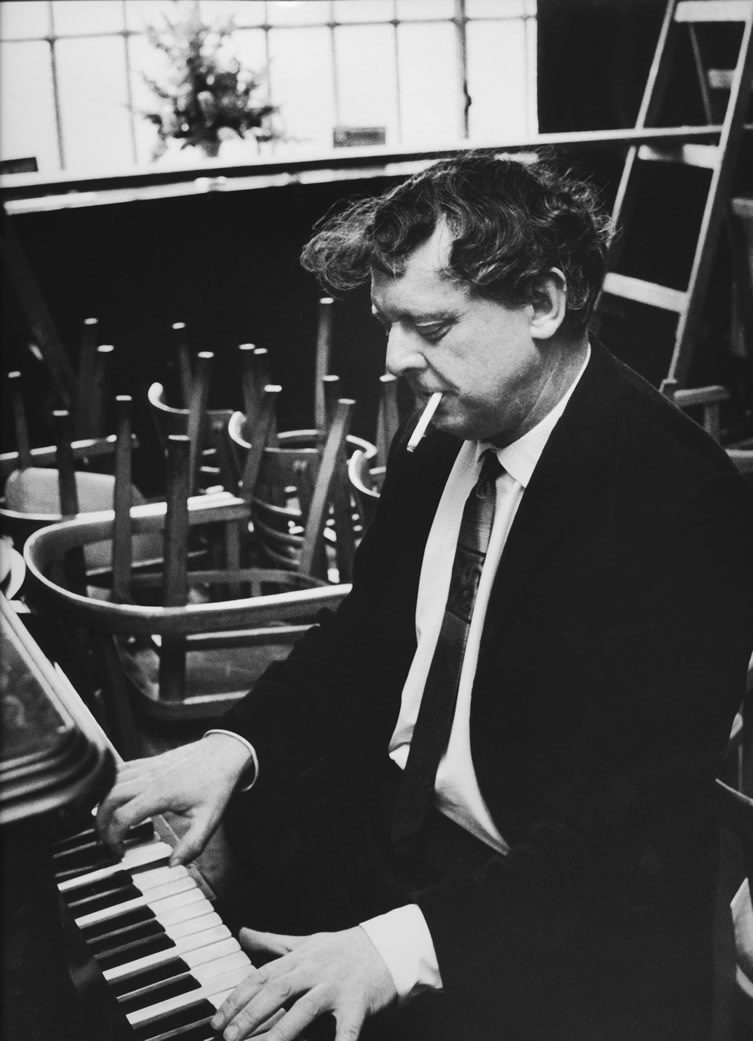 Photo of Anthony Burgess taken at the Duke of York pub in Chiswick, 1968.