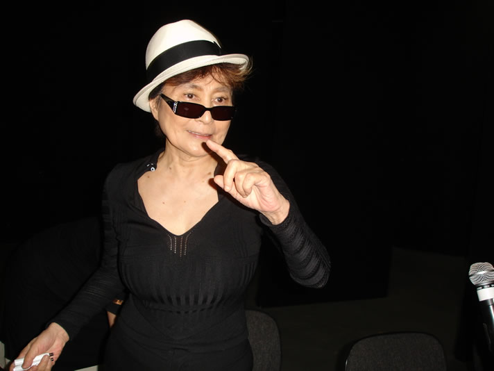 Yoko Ono at the Museum of Contemporary Art in São Paulo, Brazil.
