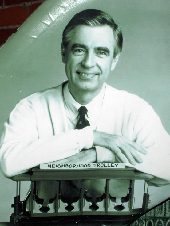Portrait of Fred Rogers, aka Mister Rogers.