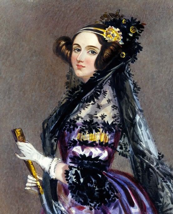 Portrait of Ada Lovelace, painted by Alfred Edward Chalon in 1840