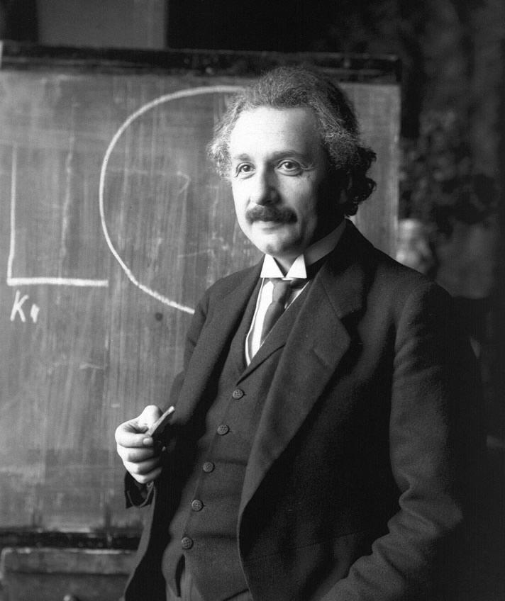Portrait study of Albert Einstein, photographed by Ferdinand Schmutzer in 1921.