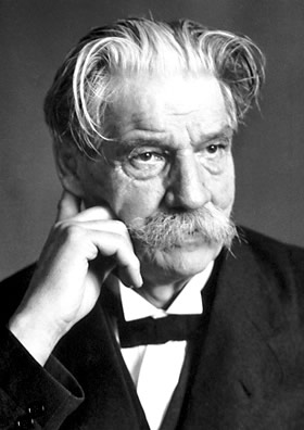 Portrait of Albert Schweitzer, 1952.
