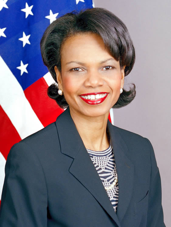 An official portrait of Condoleezza Rice from the State Department.