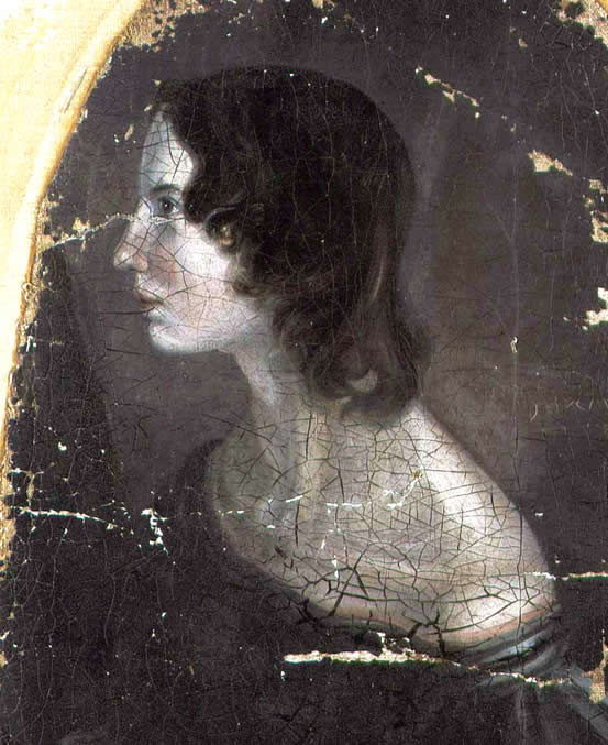 Portrait of Emily Brontë, painted by Patrick Branwell Brontë, c. 1833.