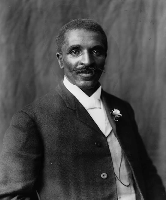 Portrait of George Washington Carver, photographed by Frances Benjamin Johnston in 1906.
