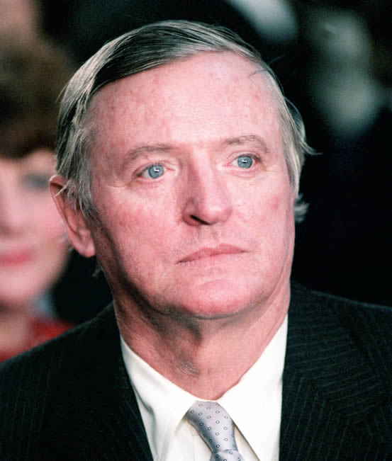 William F. Buckley, Jr. at the second Inauguration of President Ronald Reagan, photographed by Bert Goulait on January 21, 1985.
