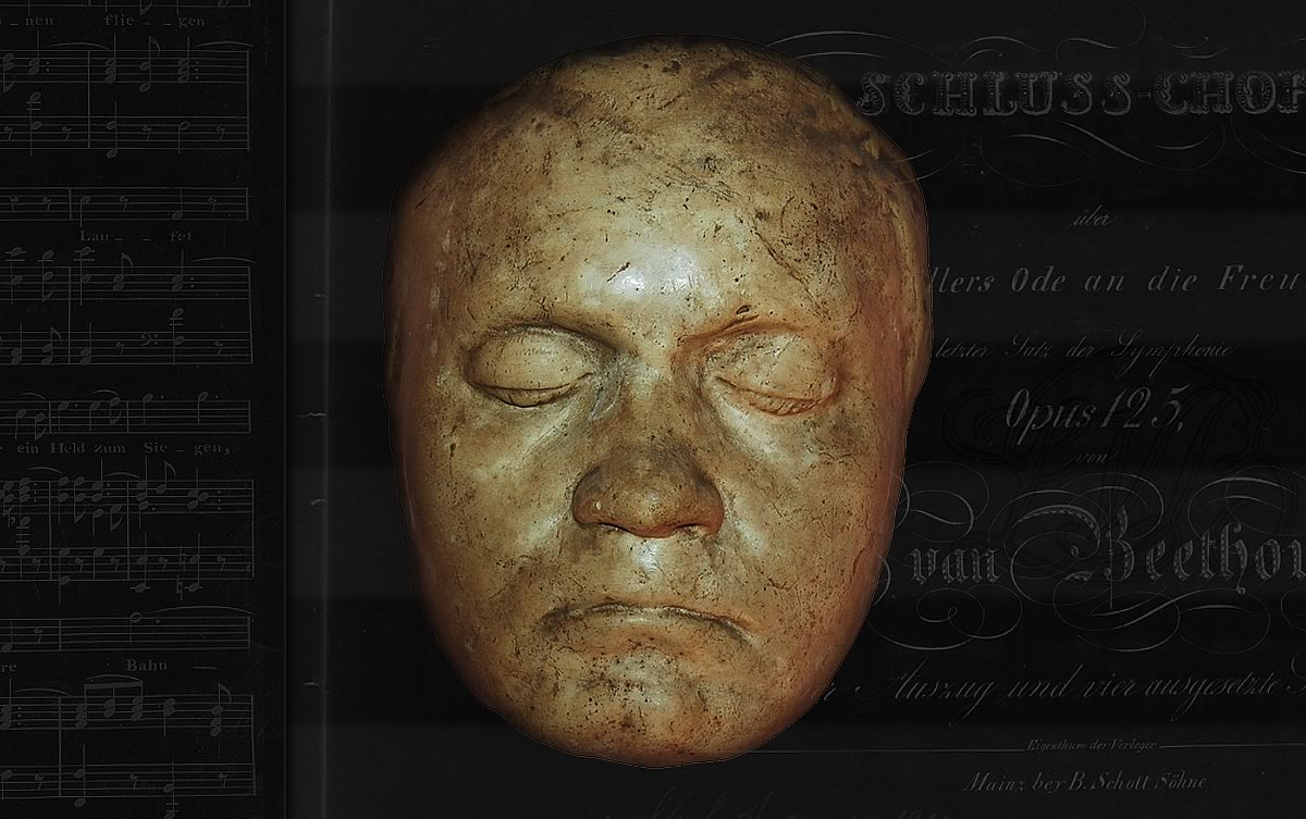Life mask of composer Ludwig Van Beethoven.