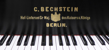 Detail of a C. Bechstein piano.