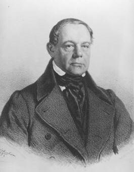Portrait of Ignaz Bösendorfer, photographed by Josef Kriehuber in 1859.