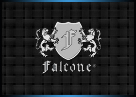 Company logo for Falcone pianos.