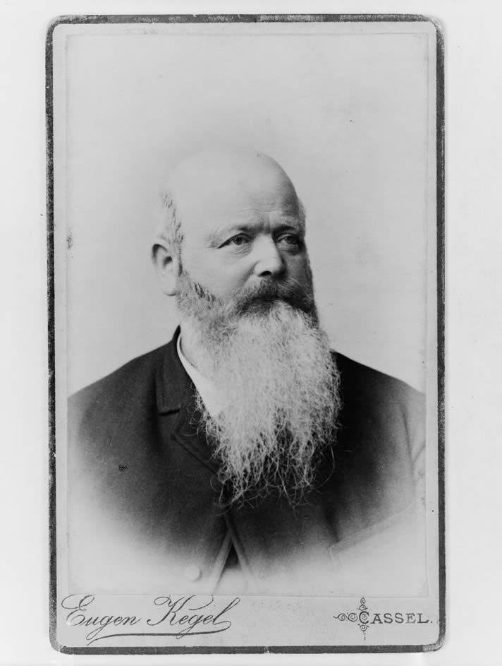 Portrait of George Steck, photographed by Eugen Kegel in 1883.