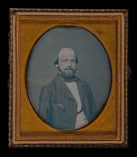 Portrait of George Steck in 1856 when he was 27 years old.