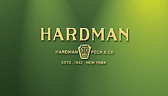 Company contemporary logo for Hardman Peck.
