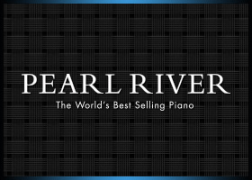 Company logo for Pearl River pianos.