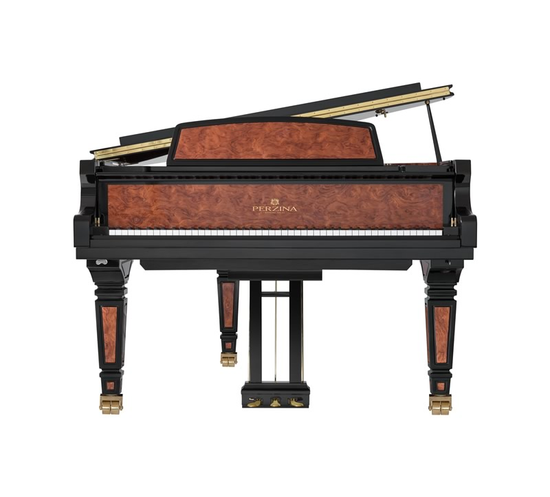 Main Gallery Image: Perzina piano models.