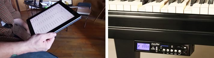 Testing key responsiveness and the wireless system for the PianoDisc.