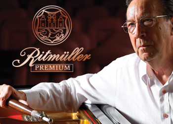 Portrait of Lothar Thomma for a Ritmüller piano company's promo.