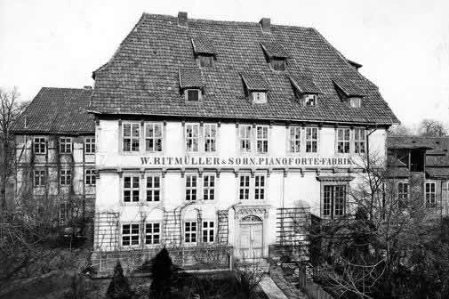 The piano factory for W. Ritmüller & Sons at The Hard Hof on Ritterplan in Göttingen, Germany.
