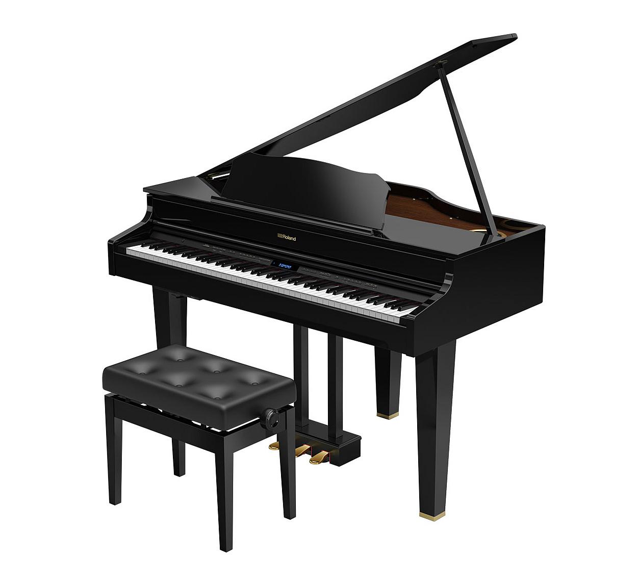 Main Gallery Image: Roland GP607 digital grand piano.
