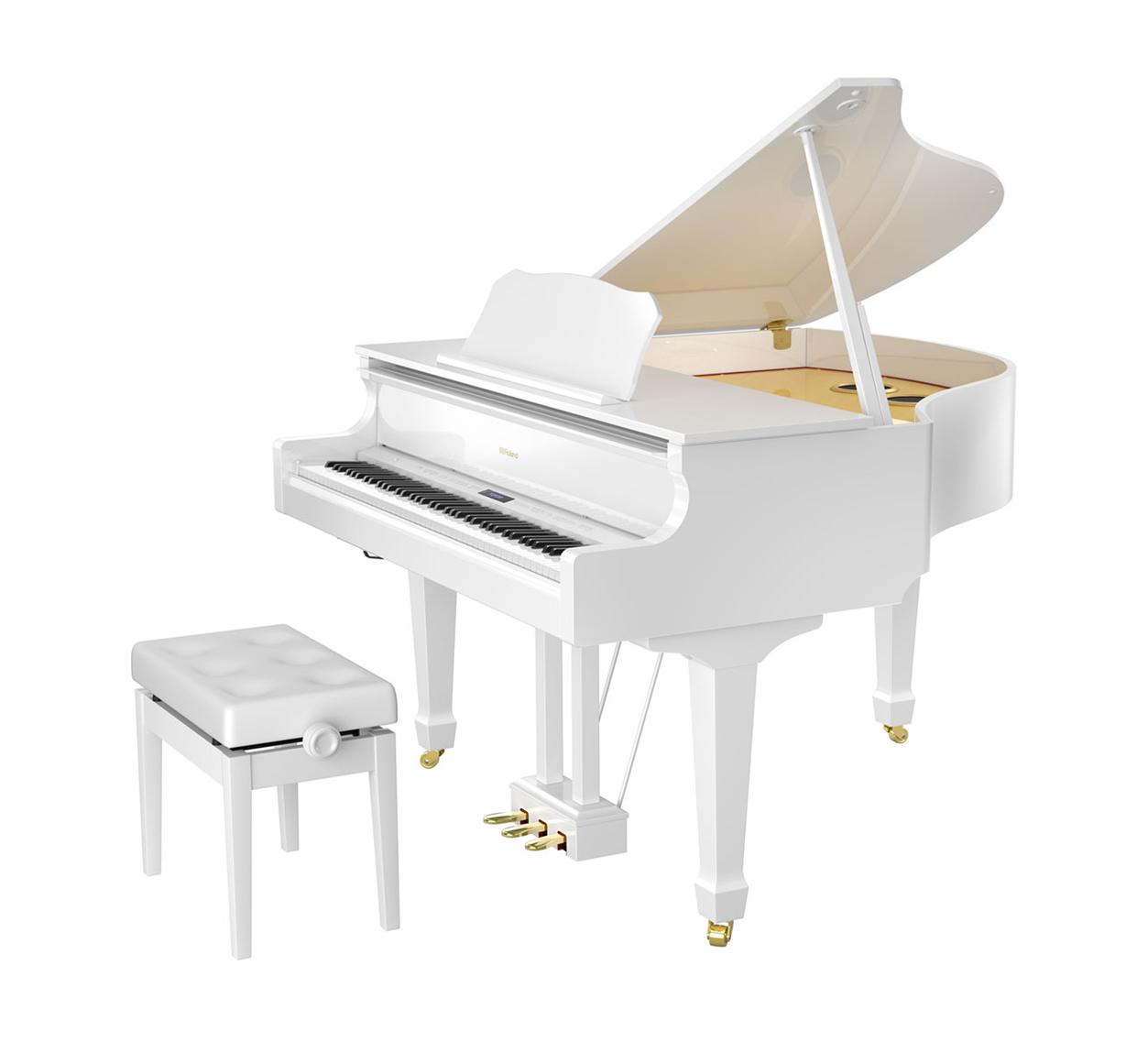 Main Gallery Image: Roland GP609 digital grand piano.