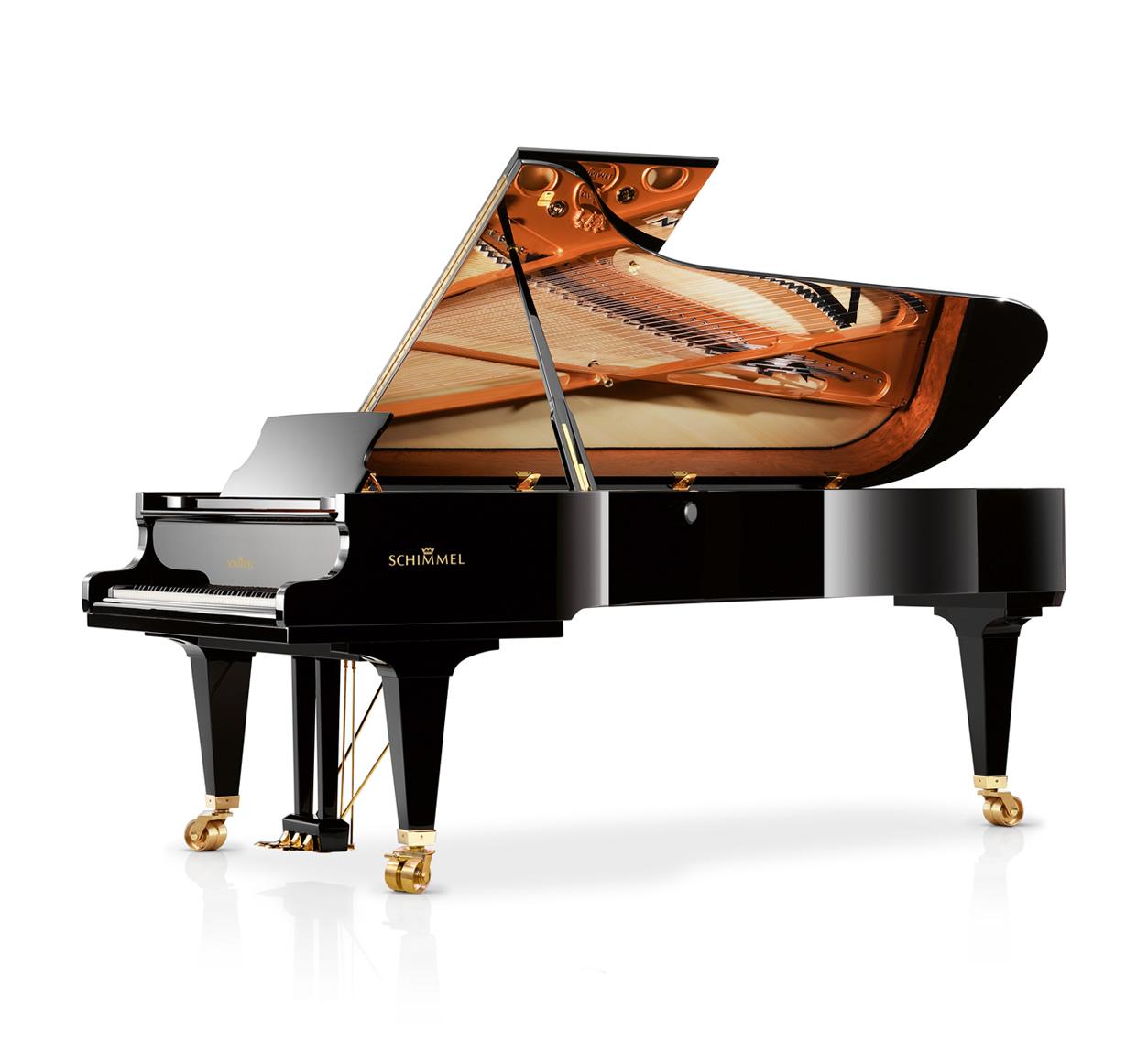 Main Gallery Image: Schimmel Konzert piano models.