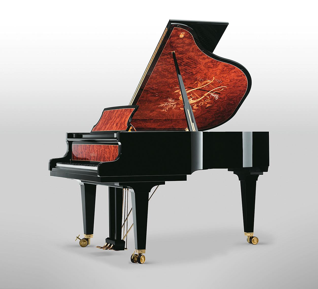 Main Gallery Image: Schimmel Meisterstück piano models.
