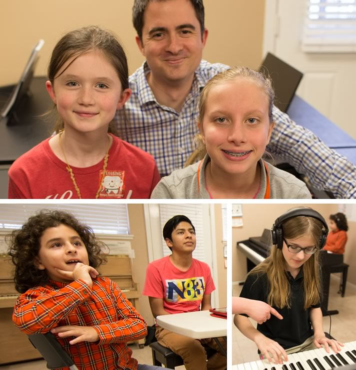 Nick Evangelista teaching group lessons at HPC School of Music.