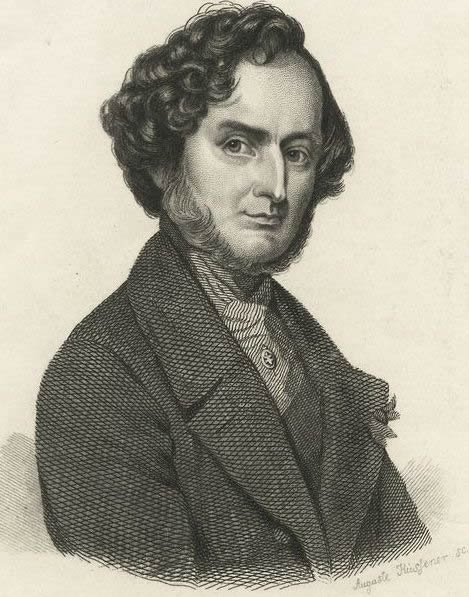 Engraving of Hector Berlioz from the New York Public Library Archive.