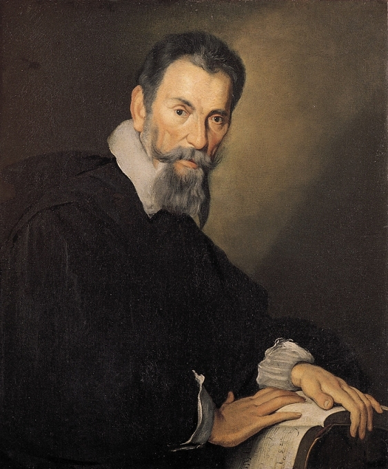Painting of Claudio Monteverdi by Bernardo Strozzi, c. 1630, in the Tyrolean State Museum, Austria.