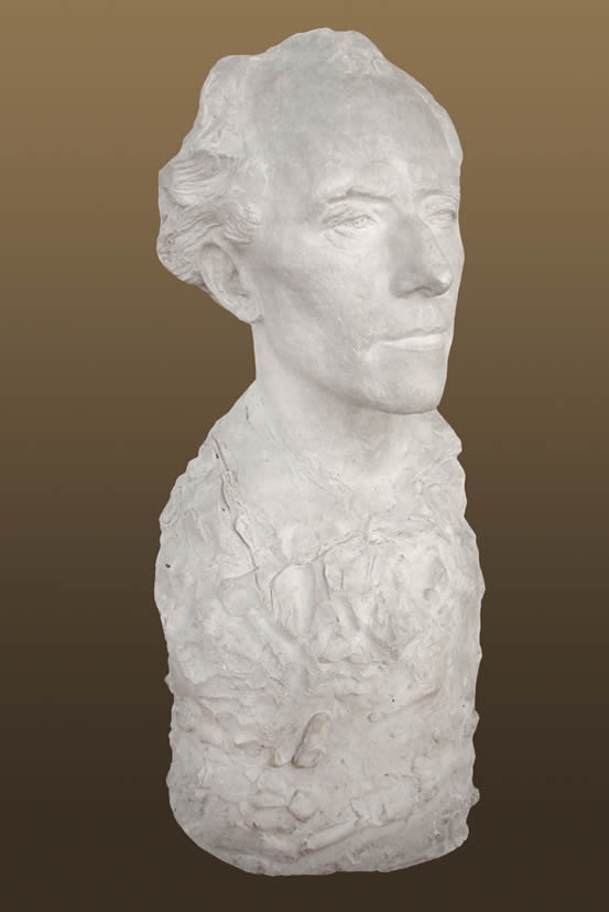 Gustave Mahler bust by Auguste Rodin in 1909.