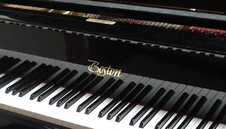 Detail of a Boston piano, photographed by Alton in 1988.