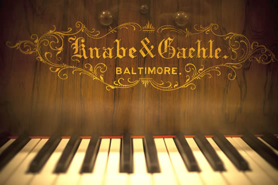 Detail of a Knabe & Gaehle Piano, photographed by Sean Davis in 2012.