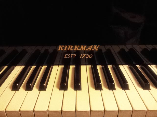 Detail of a Kirkman piano, photographed by Rob Hannay in 2012.