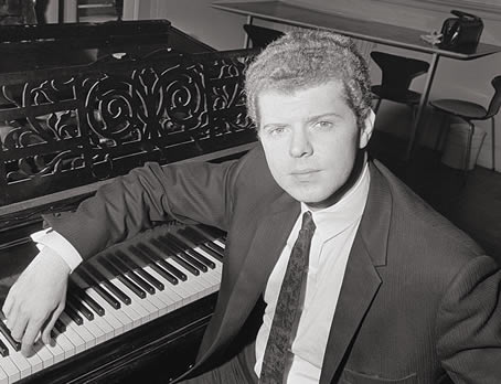 Portrait of Van Cliburn at the piano in 1966.