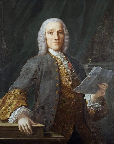 Portrait of Domenico Scarlatti in 1738, by Domingo Antonio Velasco.
