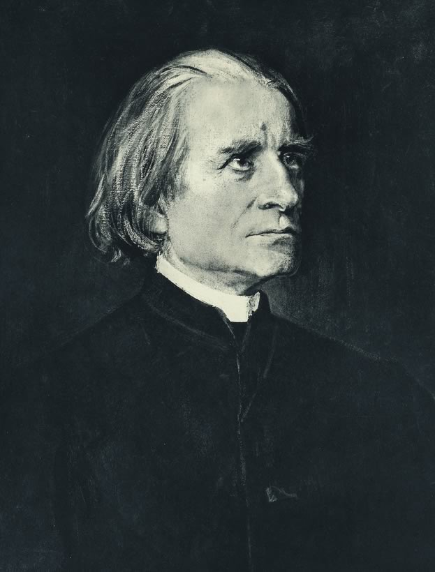 Portrait of Franz Liszt in 1885.
