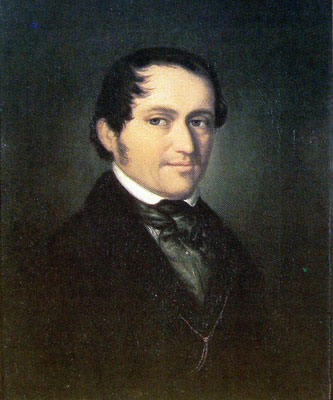 Portrait of Friedrich Wieck at the age of 45, in the Robert-Schumann-Haus Zwickau, Germany.